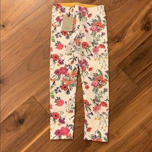 Floral Zara Girls pant size 8 NWT